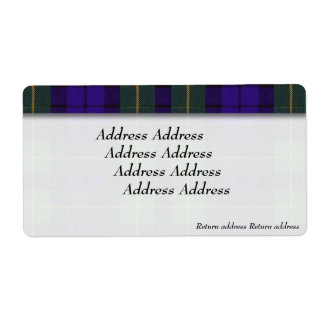 Breadalbaneの格子縞のスコットランド人のタータンチェックのキャンベル ラベル