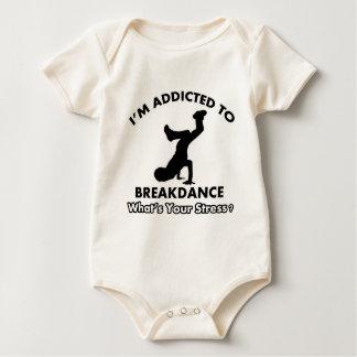 breakdanceに熱中される ベビーボディスーツ