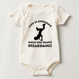 Breakdanceのダンス ベビーボディスーツ