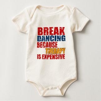 Breakdanceのデザイン ベビーボディスーツ
