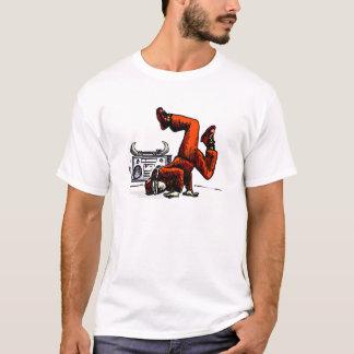 Breakdancerおよび箱のヒップホップ Tシャツ