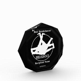 Breakdancer最も最高のなBreakdance賞 表彰盾