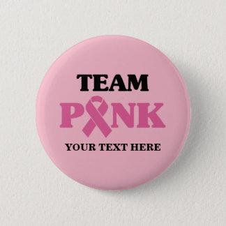 Breast Cancer Pink Ribbon Team 5.7cm 丸型バッジ