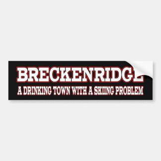 Breckのスキー問題 バンパーステッカー