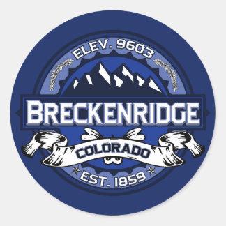 Breckenridgeのステッカー ラウンドシール