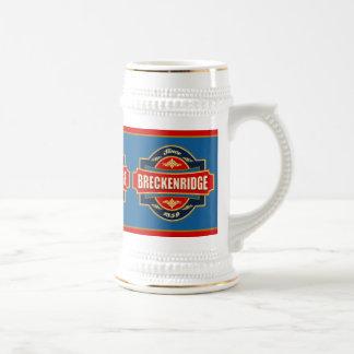 Breckenridgeの古いラベル ビールジョッキ
