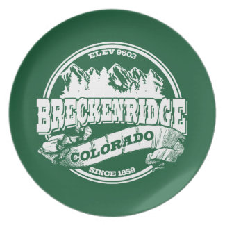 Breckenridgeの古い円の緑 プレート