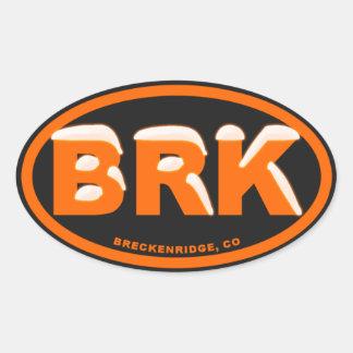 Breckenridgeの安全オレンジ雪の楕円形 楕円形シール
