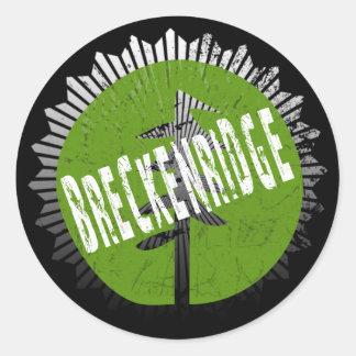 Breckenridgeの腐食のロゴ ラウンドシール