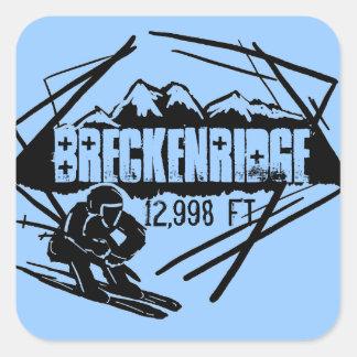 Breckenridgeの高度のスキーステッカー スクエアシール