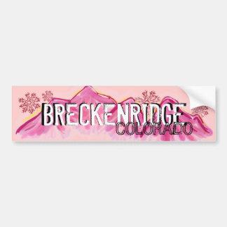 Breckenridgeコロラド州のピンクのテーマのバンパーステッカー バンパーステッカー