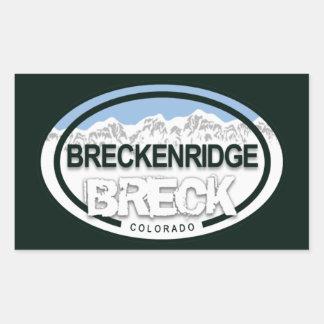 Breckenridgeコロラド州のロッキー山脈Breck 長方形シール