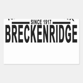 Breckenridgeコロラド州の国立公園のTシャツ「.png 長方形シール