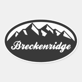 Breckenridgeコロラド州の楕円形 楕円形シール