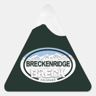 Breckenridgeコロラド州山のラベルのステッカー 三角形シール