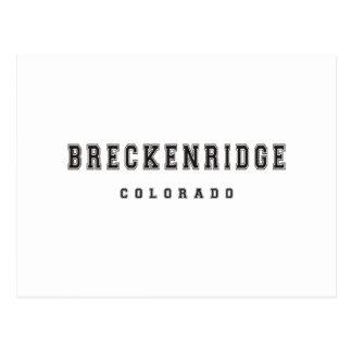 Breckenridgeコロラド州 ポストカード