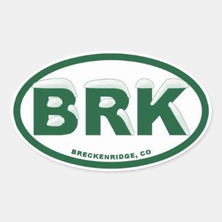 Breckenridgeコロラド州 楕円形シール