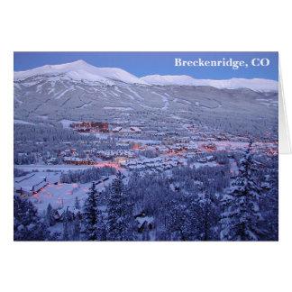 Breckenridge、コロラド州の挨拶状 カード