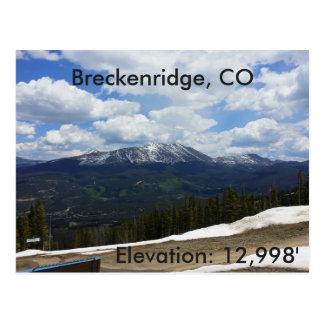 Breckenridge、コロラド州の郵便はがき ポストカード