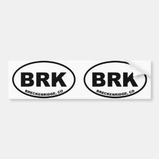 Breckenridge BRK バンパーステッカー