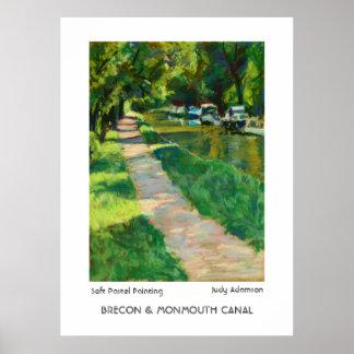 Brecon及びMonmouth運河プリントかポスター ポスター