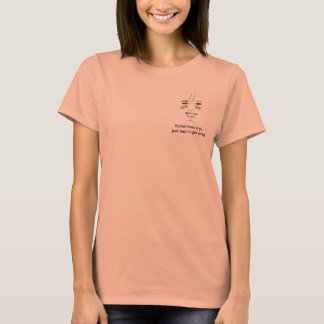 Breeのロゴ-女の子汚れているならなければなりません-明白な背部 Tシャツ