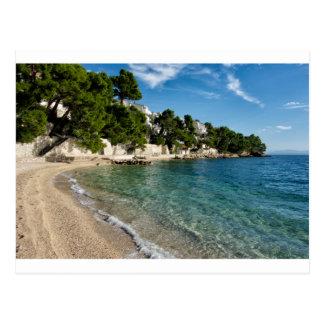 Brela、クロアチアのビーチ 葉書き