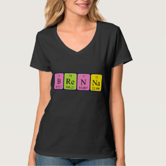 Brennaの周期表の名前のワイシャツ Tシャツ