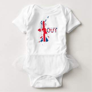 BREXITの英国国旗 ベビーボディスーツ