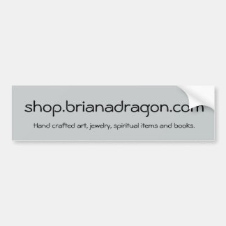 BrianaDragonの店のプロモーション バンパーステッカー