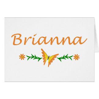 Brianna (オレンジ蝶) カード