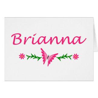 Brianna (ピンクの蝶) カード