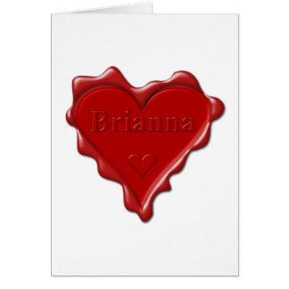 Brianna。 一流のBriannaの赤いハートのワックスのシール カード