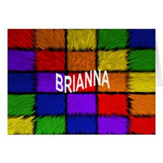 BRIANNA (女性の名前) カード