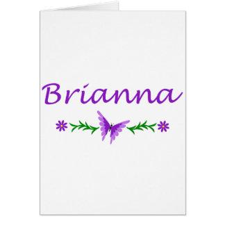 Brianna (紫色の蝶) カード