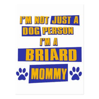 Briardのお母さん ポストカード