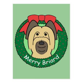 Briardのクリスマス ポストカード