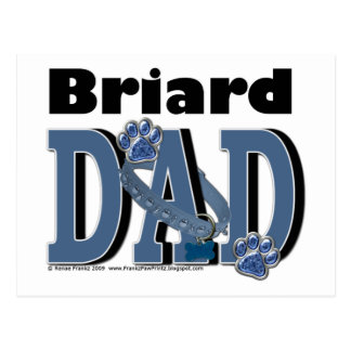 Briardのパパ ポストカード