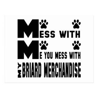 Briardの私の商品と台なしにします ポストカード