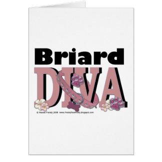 Briardの花型女性歌手 カード