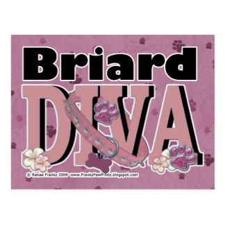 Briardの花型女性歌手 ポストカード