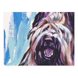 Briard犬のおもしろいの明るいポップアート ポストカード
