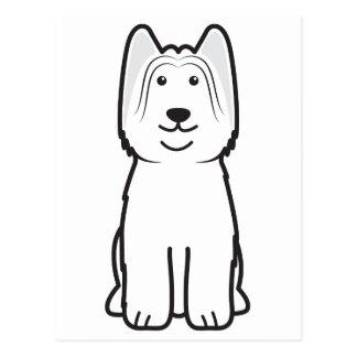 Briard犬の漫画 ポストカード
