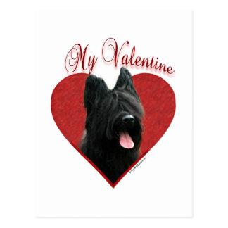 Briard私のバレンタイン ポストカード