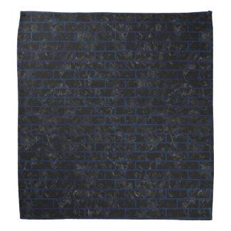 BRICK1黒い大理石及び青いグランジ バンダナ