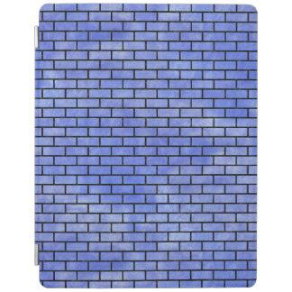 BRICK1黒い大理石及び青い水彩画(R) iPadスマートカバー