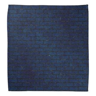 BRICK1黒い大理石及び青くグランジな(R) バンダナ