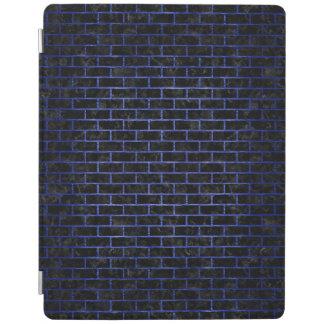 BRICK1黒い大理石及び青によってブラシをかけられる金属 iPadスマートカバー