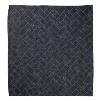 BRICK2黒い大理石及び青い革 バンダナ