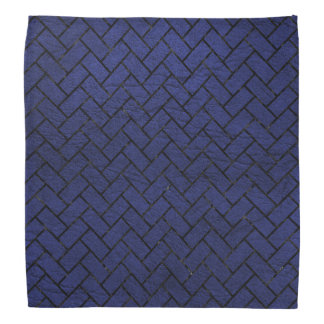 BRICK2黒い大理石及び青い革(R) バンダナ